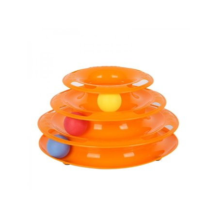 Lavaport Cat Roller Toys Interactive Fun with 3-Levels Kitty Teaser for Play Exercise for Kittens ()