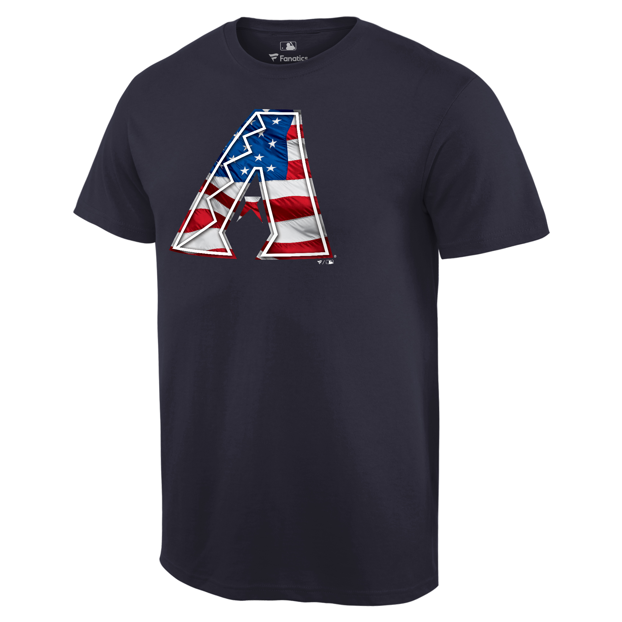 Arizona Diamondbacks Fanatics Branded 2018 Stars & Stripes Banner Wave Logo T-Shirt - Navy