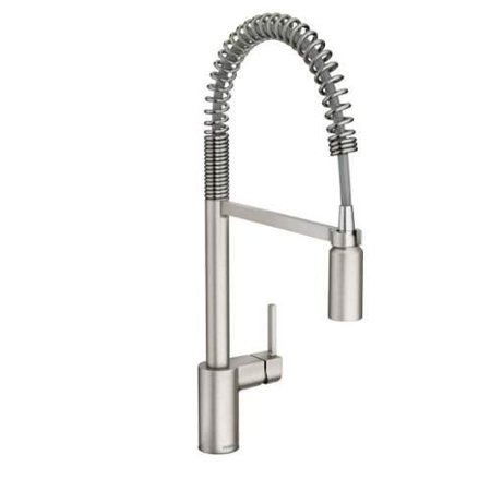 Moen 5923 Align 1.5 GPM Single Hole Pull Down Kitchen Faucet with Spot Resist Finish and Duralast - Spot Resist