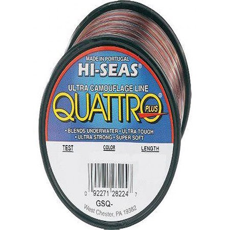 Hi seas quatro plus 20lb 4 color 1lb mono gsq 1 20 for Hi seas fishing line