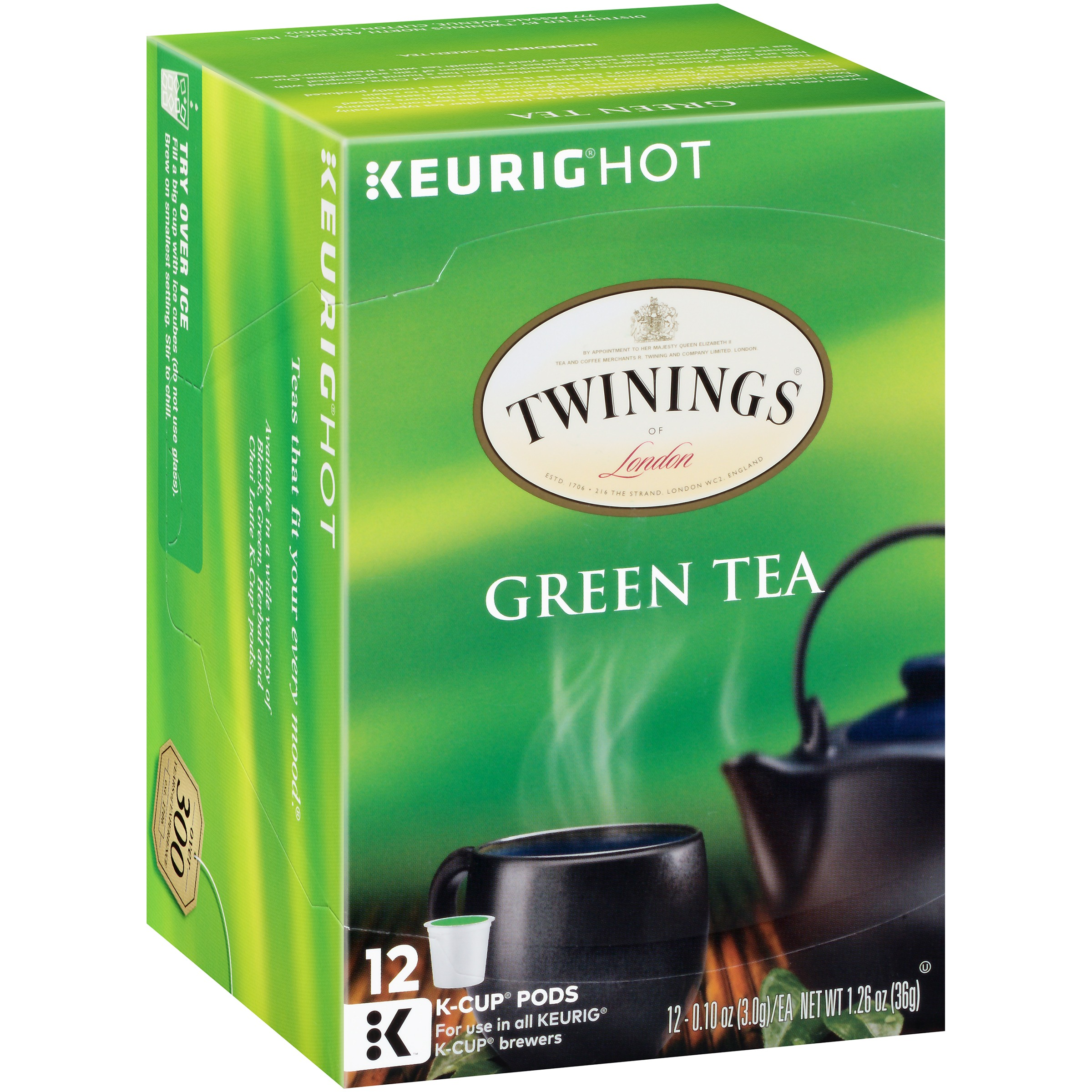 Twinings of London® Green Tea 12 ct K-Cup® Pods 1.26 oz. Box