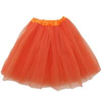 Plus Size Orange Adult Size 3-Layer Tulle Tutu Skirt - Princess Halloween Costume, Ballet Dress, Party Outfit, Warrior Dash/ 5K Run