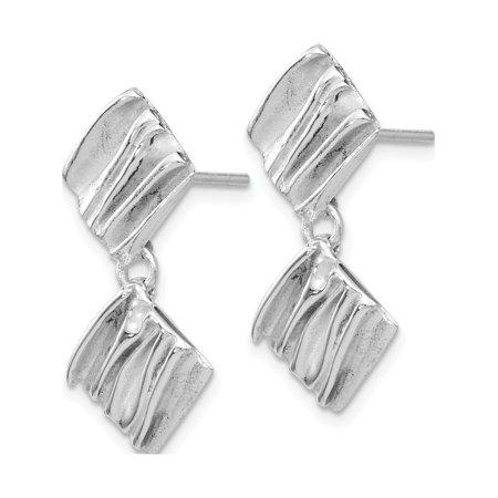 Leslie's SS Rhodium-plated Scrunch Earrings (22x10.75) - image 1 de 3