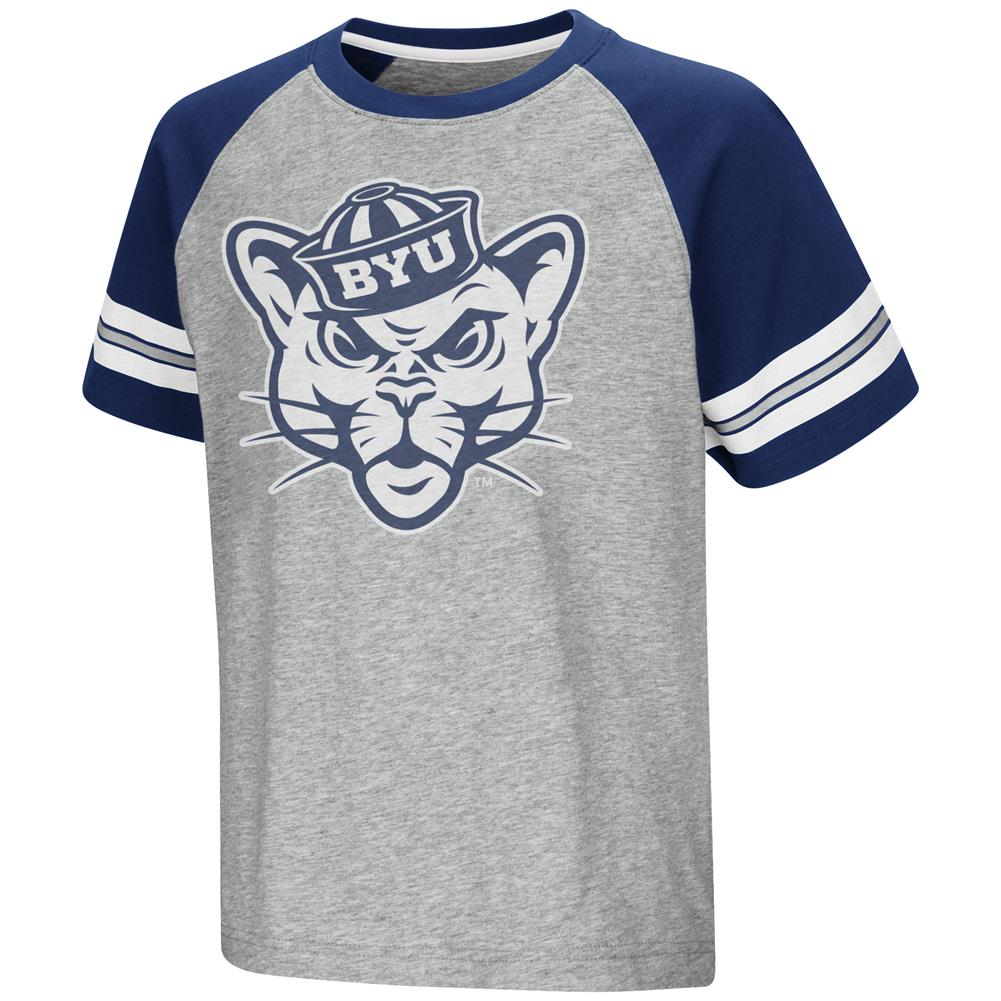 BYU Brigham Young University Raglan Tee Youth Baseball Shirt