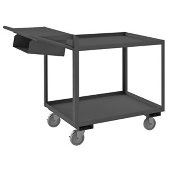 Durham OPCPFS-2436-2-95 40 in. Order Picking Cart, Gray - 1200 lbs