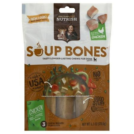 Rachael Ray Nutrish Soup Bones Dog Treats, Chicken & Veggies Flavor, 3 count