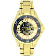 Elgin Men's Full Automatic Watch with Rose Arabic Dial, Goldtone