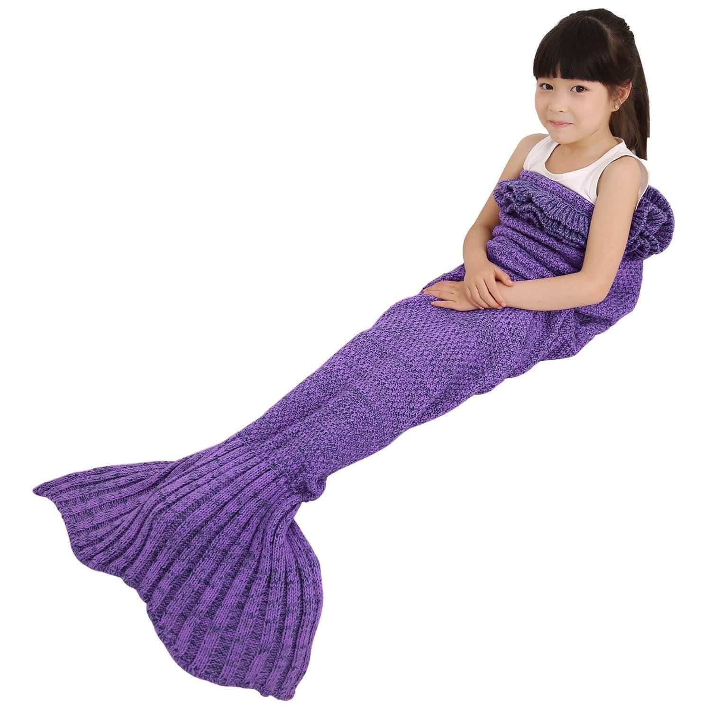 LEDmart Mermaid Tail Blanket, Mermaid Crochet Knitting Blanket, Best Birthday Christmas... by LEDmart