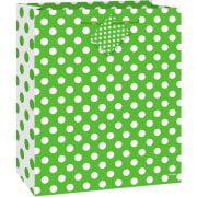 (3 Pack) Lime Green Polka Dot Gift Bag - Lime Green Gift Bags