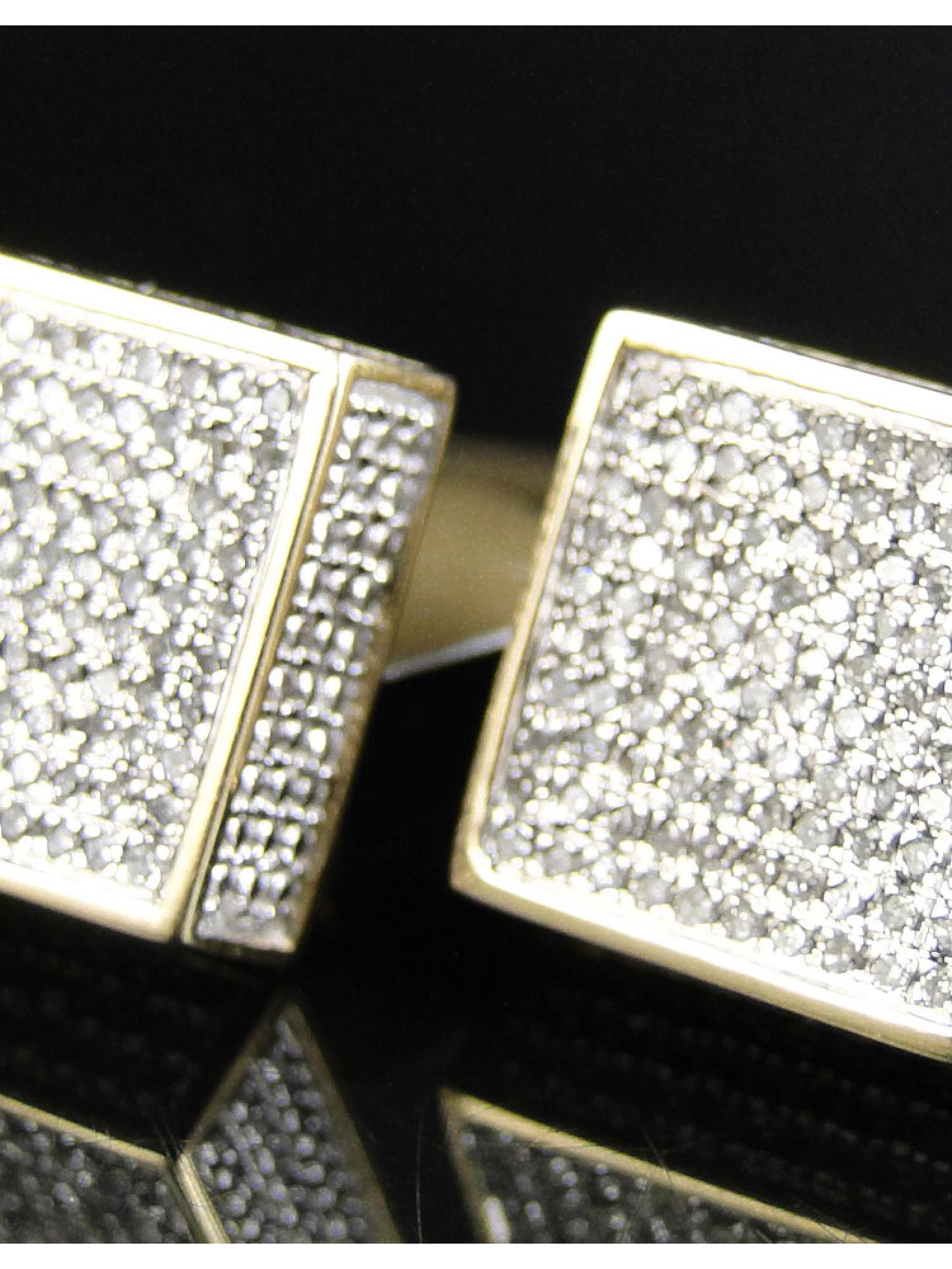 NEW MENS LADIES 20 MM GENUINE WHITE//CANARY DIAMOND KITE STUD EARRINGS 1.0 CT