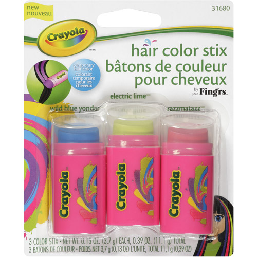 Fing'rs Crayola Hair Color Stix, 3 pc