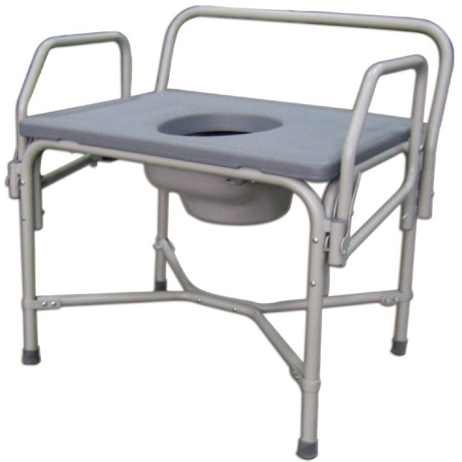 Medline Bariatric Drop-Arm Commode With Reinforced Steel Frame