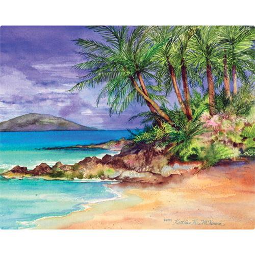 Magic Slice 12'' x 15'' Palm Island Design Cutting Board