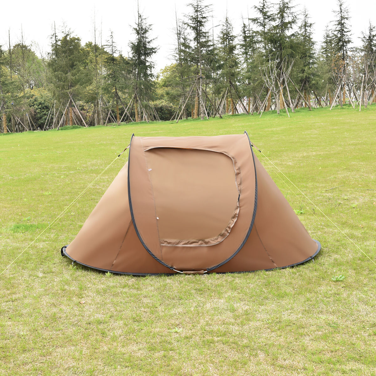 US 2-3 Person Waterproof Camping Tent Auto Pop Up Quick Shelter Outdoor Hiking