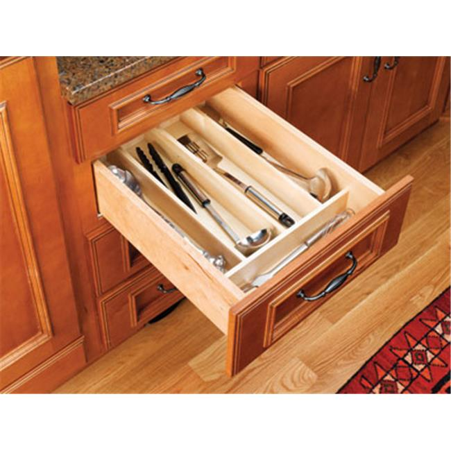 HD RS4WUT. 1 Wood Utility Tray Insert - 18. 50 x 22 x 2. 88 inch