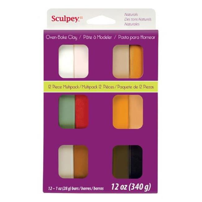 Sculpey III S3VMN12 12-Color Natural Polymer Clay Set