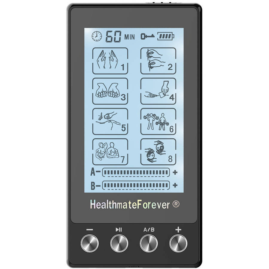 HealthmateForever TS8AB Touch Screen TENS Unit & Muscle Stimulator (Black)