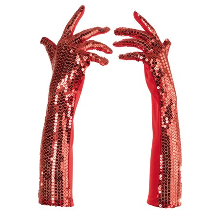 Red Sequined Long Fancy Adult Womens Flapper Costume Gloves](Sequin Flapper Costume)