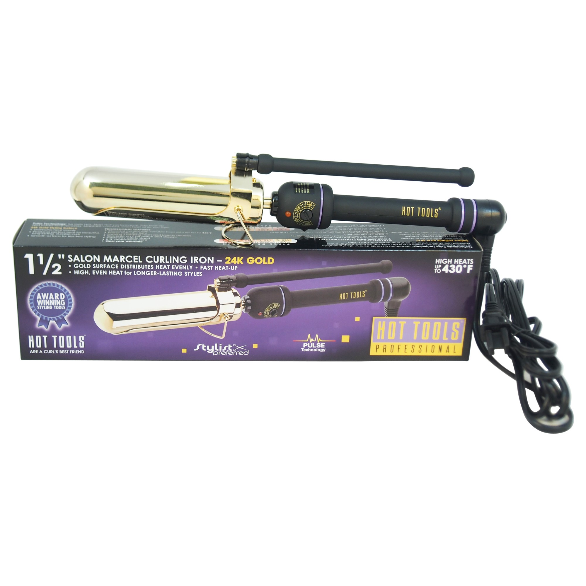"Hot Tools Professional 1 1/2"" Marcel Curling Iron, Model #1182CN"