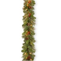 9' Cashmere Berry Garland with Clear Lights