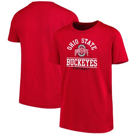 Youth Scarlet Ohio State Buckeyes Arch T-Shirt