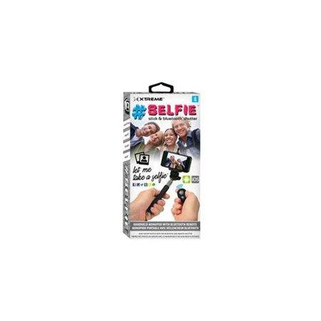 xtreme cables 51963 selfie stick with bluetooth remote black. Black Bedroom Furniture Sets. Home Design Ideas