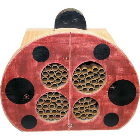 Welliver Outdoors-Welliver Mason Bee Ladybug House- Red & Black