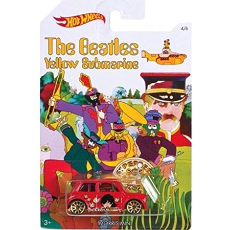 """""""MORRIS MINI"""" 2016 Hot Wheels THE BEATLES 50th Anniversary """"YELLOW SUBMARINE"""" Red Mini Cooper 1:64 Scale Collectible Die Cast Metal Toy Car Model 4/6"""