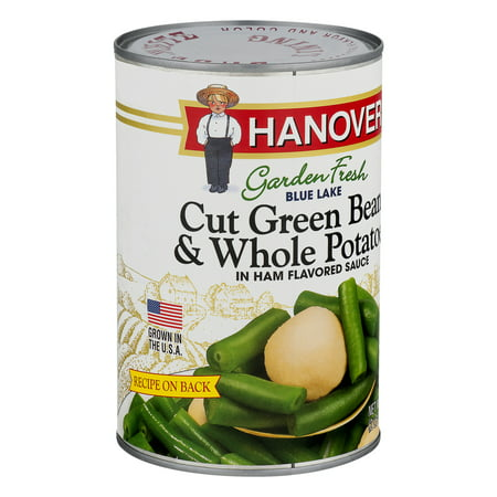 Hanover Garden Fresh Blue Lake Cut Green Beans & Whole Potatoes In Ham Flavored Sauce, 39