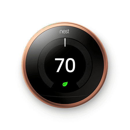 Google Nest Learning Thermostat - 3rd Generation - Copper