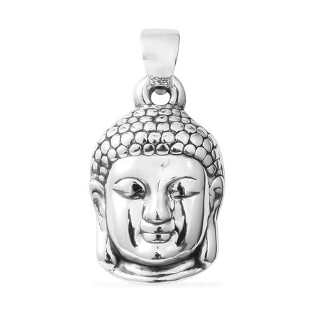 925 Sterling Silver Buddha Pendant Jewelry Gift for (Luck Buddha Pendant)