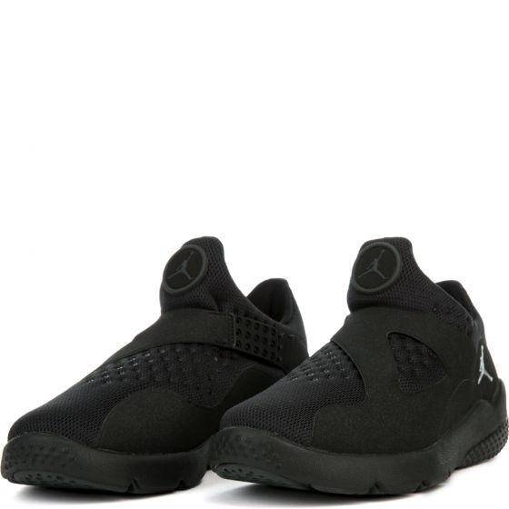 Nike 888122-011: Jordan Trainer Essential Black Chrome-Anthracite Sneakers by