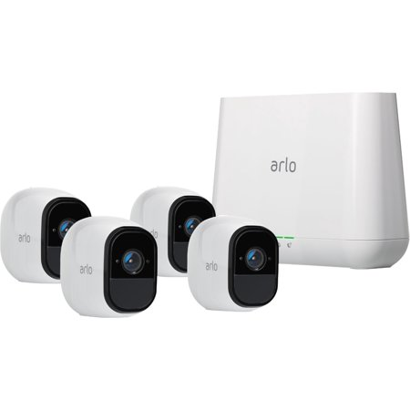 Arlo Pro VMS4430-100NAR (VMS4430-100NAS) Indoor/Outdoor HD Wire Free Security System with 4 Cameras (White) Certified