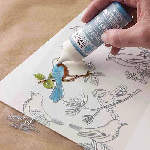 Martha Stewart Glass Paintable Cling Woodland Bird
