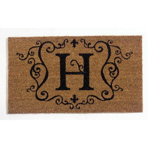 Evergreen Flag & Garden Monogram Doormat