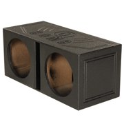 "Q Power QBomb QBOMB12V Dual 12"" Vented Port Subwoofer Sub Box w/ Bedliner Spray"