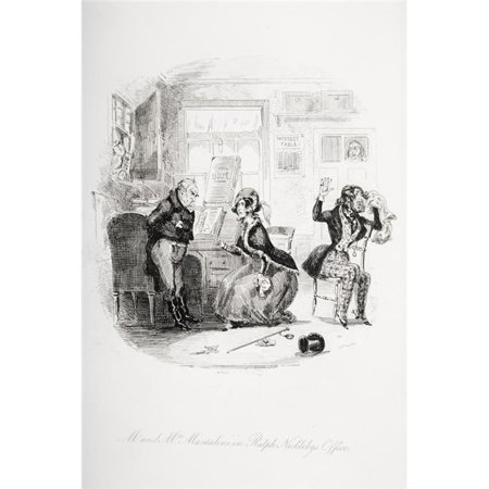Posterazzi DPI1860132LARGE Mr.And Mrs. Mantalini In Ralph Nicklebys Office Illustration From The Charles Poster Print, Large - 24 x 36 - image 1 of 1