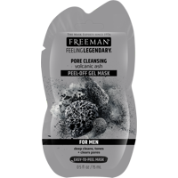 Freeman Feeling Legendary Pore Clearing Peel-Off Face Mask with Volcanic Ash for Men, 0.5 fl oz