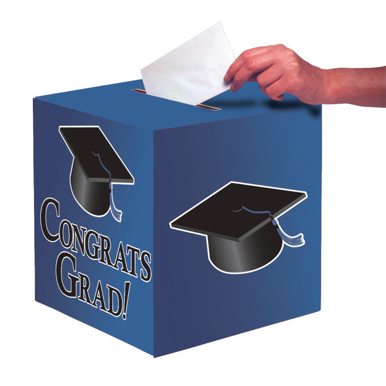 """Club Pack of 6 Cobalt Blue """"Congrats Grad"""" Decorative Gra..."""