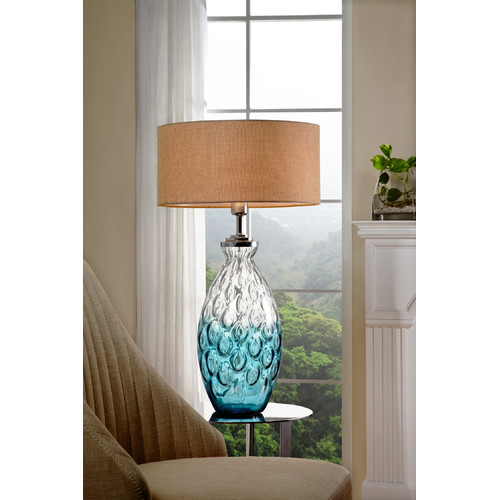 Aquamarine Glass Table Lamp