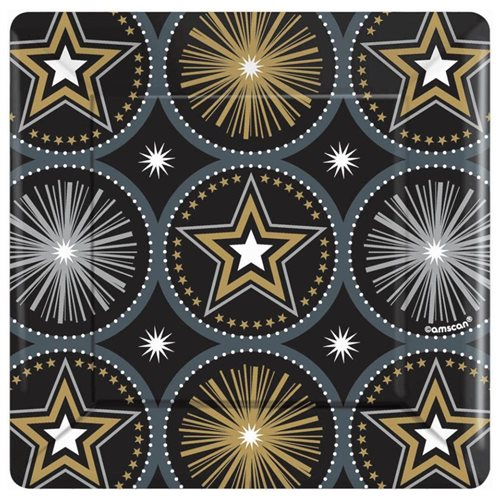 Hollywood 'Glitter Starz' Small Paper Plates (8ct)
