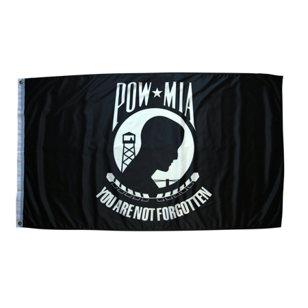 3x5 Foot POW MIA Flag Double Stitched Prisoners Of War Flag with Brass Grommets | 3 by 5 Foot Premium Indoor Outdoor Polyester Banner