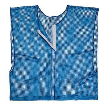 Olympia Sports PC166P Deluxe Velcro- Team-Scrimmage Vest - Blue