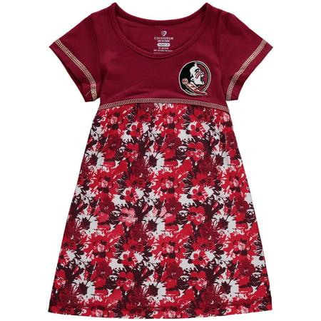 Florida State Seminoles Colosseum Girls Toddler Fountain Floral Dress - Garnet - Garnet Hill For Kids