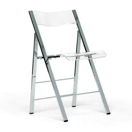 Baxton Studio Acrylic Foldable Dining Chair - Set of 2