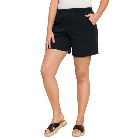 - Roaman's Plus Size Soft Knit Shorts