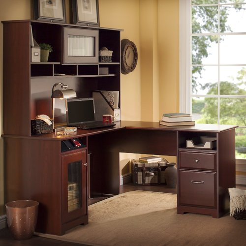 Red Barrel Studio Toledo L-Shaped Executive Desk with Hutch