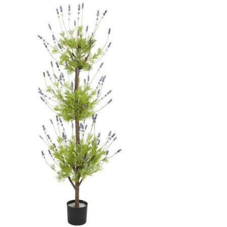 4 Lavender Topiary Silk Tree
