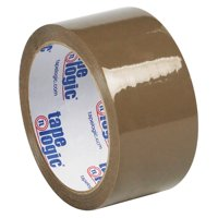 T90150 Clear 2 Inch x 55 yds. Tape Logic #50 Natural 1.9 Mil Rubber Tape CASE OF 36