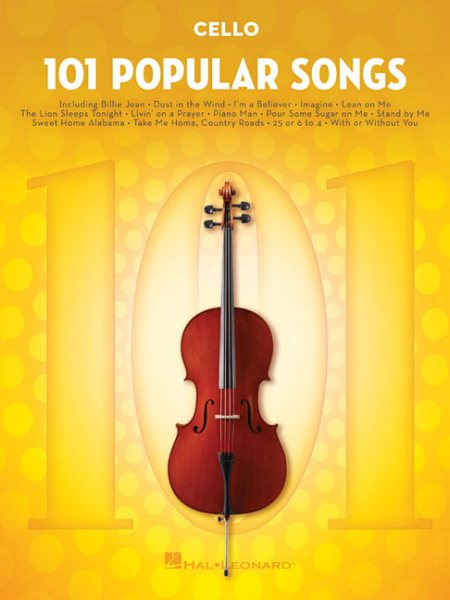 101 Popular Songs Cello by